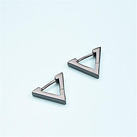 Men's Stud Earrings Geometrical Precious Fashion Silver Plated Earrings Jewelry Black / Silver For Daily Street Work 1 Pair