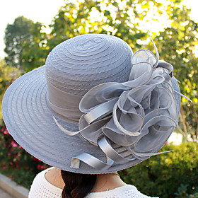 Women's Basic Polyester Sun Hat-Solid Colored Black White Blushing Pink