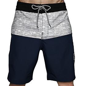 Beach Board Shorts Men's EU / US Size Black Bottoms Swimwear Swimsuit - Color Block M L XL Black