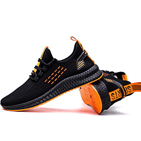 Men's Comfort Shoes Outdoor Trainers / Athletic Shoes Running Shoes Mesh Black / Yellow / Orange / Black / Black Category:Trainers / Athletic Shoes; Upper Materials:Mesh; Gender:Men's; Activity:Running Shoes; Occasion:Outdoor; Shipping Weight:0.78; Listing Date:01/14/2020; 2020 Trends:Comfort Shoes; Foot Length:; Size chart date source:Provided by Supplier.