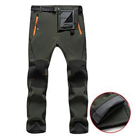 Men's Hiking Pants Softshell Pants Winter Outdoor Thermal / Warm Waterproof Windproof Fleece Lining Fleece Pants / Trousers Bottoms Skiing Camping / Hiking Hun