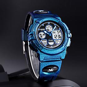 Men's Digital Watch Digital Sporty Stylish Cartoon Water Resistant / Waterproof Digital Black / Blue Black Blue / Two Years / Stainless Steel / Japanese / Chro