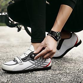 Adults' Bike Shoes Breathable Anti-Slip Mountain Bike MTB Road Cycling Cycling / Bike Black / Red White Green Men's Women's Cycling Shoes