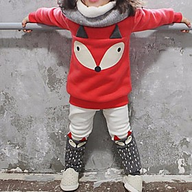 Kids Girls' Clothing Set Print Long Sleeve Basic Red Fabric:Polyester; Sleeve Length:Long Sleeve; Gender:Girls'; Style:Basic; Kids Apparel:Clothing Set; Age Group:Kids; Pattern:Print; Front page:FF; Listing Date:01/04/2020; Bust:; Length [Bottom]:; Length [Top]:; Special selected products:COD