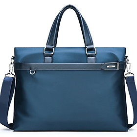 Men's Bags PU Leather Laptop Bag / Briefcase / Top Handle Bag Belt Zipper for Daily Black / Blue