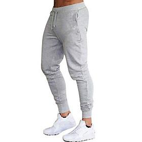 Men's Basic Sweatpants Pants - Solid Colored Wine White Black US32 / UK32 / EU40 / US34 / UK34 / EU42 / US36 / UK36 / EU44