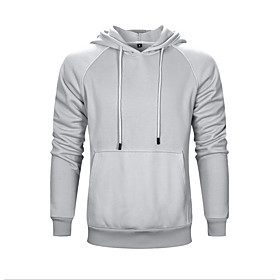 Men's Hoodie Zip Up Hoodie Solid Colored Hooded Casual Hoodies Sweatshirts  White Black Blue