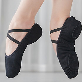 Women's Dance Shoes Ballet Shoes Flat Flat Heel Camel Black Pink Category:Ballet Shoes; Upper Materials:Canvas; Heel Type:Flat Heel; Gender:Women's; Style:Flat; Outsole Materials:Leather; Occasion:Training; Listing Date:02/28/2020; Foot Length:; Size chart date source:Measured by LightInTheBox.; Special selected products:COD