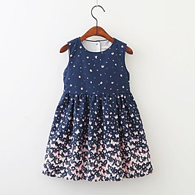 Kids Girls' Animal Dress Navy Blue