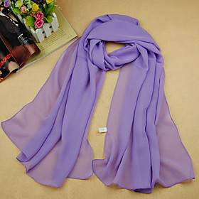 Women's Work / Basic / Cute Rectangle Scarf - Solid Colored