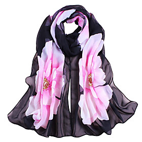 Women's Active / Basic / Cute Rectangle Scarf - Floral