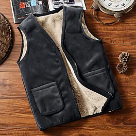Men's Hiking Fleece Vest Winter Outdoor Windproof Fleece Lining Warm Comfortable Vest / Gilet Jacket Top Fleece Single Slider Climbing Camping / Hiking / Cavin