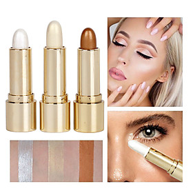 3 Colors 1 pcs Shimmer Portable / Long Lasting / Brightening Highlighter / Bronzer China Professional / High Quality Waterproof / Women / Multi-functional Part