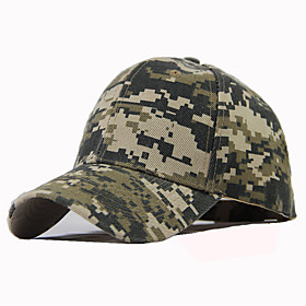 Men's Unisex Basic Cotton Baseball Cap-Color Block Spring Summer Black Army Green Green