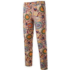 Men's Basic Chinos Pants Print Orange US32 / UK32 / EU40 US34 / UK34 / EU42 US36 / UK36 / EU44