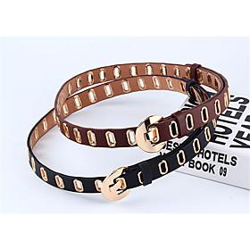 Women's Vintage / Basic Waist Belt - Solid Colored