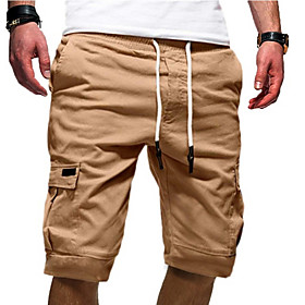Men's Basic Slim Shorts Pants Solid Colored White Khaki Gray US32 / UK32 / EU40 US34 / UK34 / EU42 US36 / UK36 / EU44
