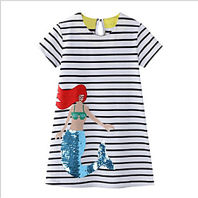 Kids Girls' Striped Dress White