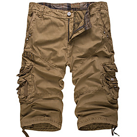 Men's Basic Streetwear Skinny Cotton Shorts Pants Tropical White Patchwork White Black Blue US34 / UK34 / EU42 US36 / UK36 / EU44 US38 / UK38 / EU46