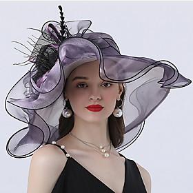 Women's Basic Mesh Sun Hat-Solid Colored Wine Light Brown Purple