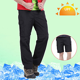 Men's Hiking Pants Convertible Pants / Zip Off Pants Outdoor Waterproof Breathable Quick Dry Sweat-wicking Pants / Trousers Convertible Pants Bottoms Camping /