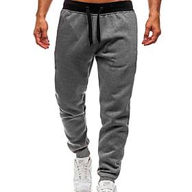 Men's Basic wfh Sweatpants Pants - Solid Colored Black Dark Gray Light gray US32 / UK32 / EU40 US34 / UK34 / EU42