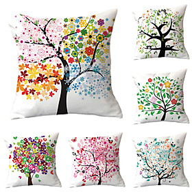 botantical and colorful tree pillows