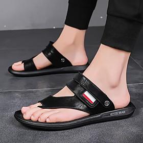 Men's Suede Spring  Summer Vintage / Preppy Sandals Walking Shoes Waterproof Dark Brown / Black / Dark Blue