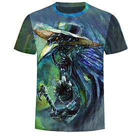Men's Daily Weekend Basic T-shirt - Color Block / 3D / Letter BluePlague  Doctor Plague Doctor