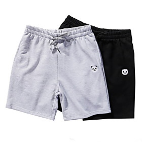 Men's Basic Cotton Shorts Pants Solid Colored Black Gray US34 / UK34 / EU42 US36 / UK36 / EU44 US40 / UK40 / EU48