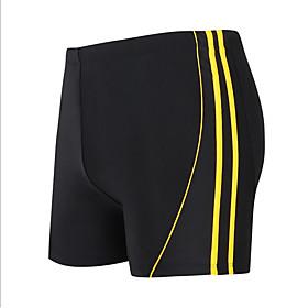 Men's White Yellow Blue Bottoms Swimwear Swimsuit - Color Block XXXXXL XXXXXXL 7XL White