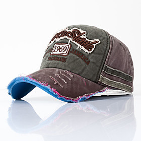 Men's Women's Basic Cotton Baseball Cap-Color Block All Seasons Black Wine Blushing Pink