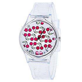 Women's Quartz Watches Quartz New Arrival Chronograph Analog White Red Green / One Year / Rubber / One Year