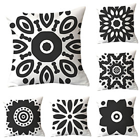 black and white geometric design pillows