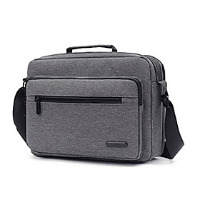 Men's Bags Polyester Crossbody Bag Zipper Solid Color for Shopping / Office  Career Black / Blue / Gray / Fall  Winter