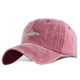 Men's Women's Basic Cotton Baseball Cap-Solid Colored All Seasons Black Wine Gray