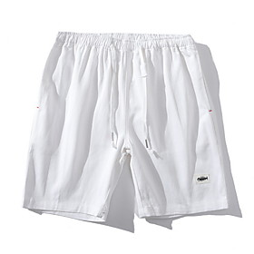 Men's Basic Cotton Shorts Pants Solid Colored White Blue Khaki US36 / UK36 / EU44 US38 / UK38 / EU46 US40 / UK40 / EU48
