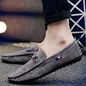 Men's Loafers  Slip-Ons Daily Mesh Black / Khaki / Gray Spring