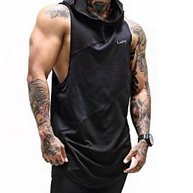 Men's Hoodie Solid Colored Hooded Casual Hoodies Sweatshirts  White Black