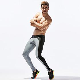 TAUWELL Men's Leggings Running Tights Compression Pants Patchwork Elastane Sports Winter Underwear Leggings Bottoms Running Fitness Jogging Moisture Wicking So