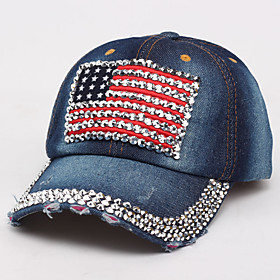 Women's Basic Cotton Baseball Cap-Solid Colored Spring Summer Blue Dark Gray Navy Blue