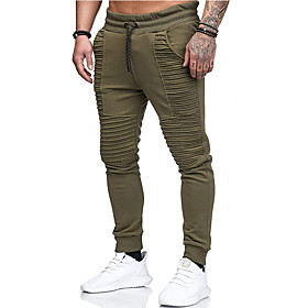 Men's Basic wfh Sweatpants Pants - Solid Colored Army Green Red Light gray US32 / UK32 / EU40 US34 / UK34 / EU42
