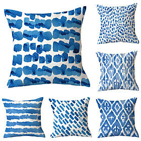 vintage blue pillow covers