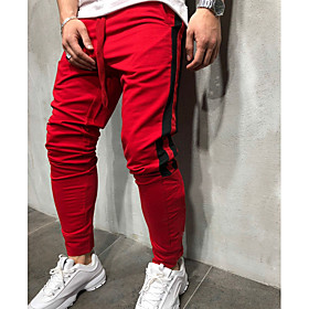 Men's Basic Loose Sweatpants Pants Print White Black Red US36 / UK36 / EU44 US38 / UK38 / EU46 US40 / UK40 / EU48
