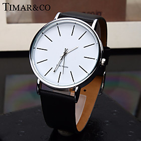 Men's Dress Watch Quartz Stylish Casual Casual Watch Analog White Black Red / One Year / Leather