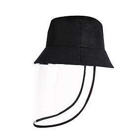 Men's Women's Work Basic Cotton Floppy Hat Sun Hat-Solid Colored Spring Summer Black