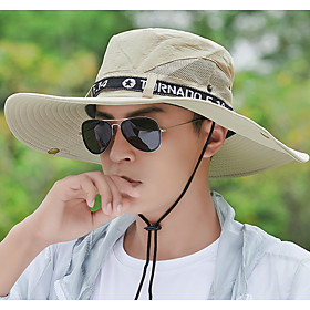 Mens Quick Dry Neck Cover Sun protection Fishing Bucket Hat
