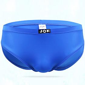 Men's 1 Piece Basic Briefs Underwear - Normal Low Waist Light Blue Black Blue M L XL