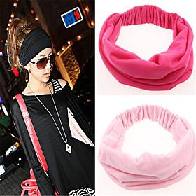 Fabric Headbands Durag Sports Adjustable Bowknot For Holiday Street Sporty Simple Dark-Gray Wine Depression Green 1 Piece / Women's