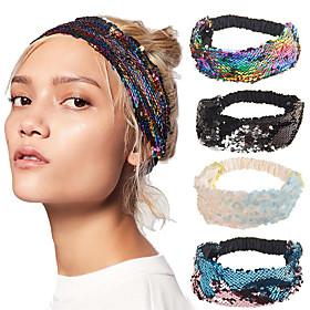 Fabric Headbands Durag Sports Adjustable Bowknot For Holiday Street Sporty Headband Cream 1 Piece / Women's